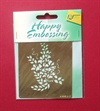 Happy Embossing stencil. Metal. Ca. 9 x 7 cm.