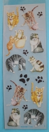 Ark med katte motiv. Rub on transfers. Scrapbooking m.m.