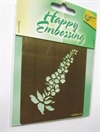 Happy Embossing.Embossing stencil.