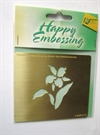 Happy Embossing. Blomst.